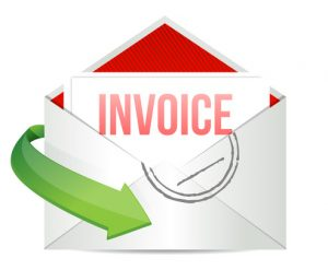 invoice Concept representing email illustration design over white